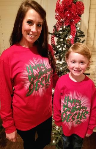 --Happy Birthday Jesus T-Shirt - Child Large